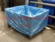 "30 rolls (1 Pallet) of Dolav Polythene Liners 47 x 89 x 75""  25 micron."